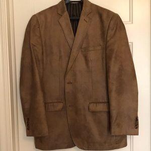 Joseph Abboud Faux leather suede Blazer, size 42R